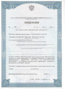 Лицензия л.1