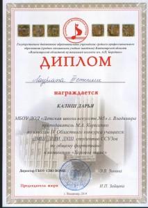 Диплом Калиш Дарья